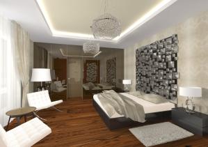 Sypialnia, Willa w Omanie, Mój Projekt