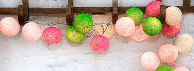 Zdjęcie ze strony Cotton Ball Lights