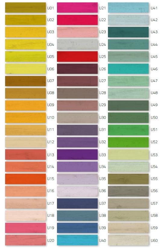 Płytki kolorowe, kolekcja U-color